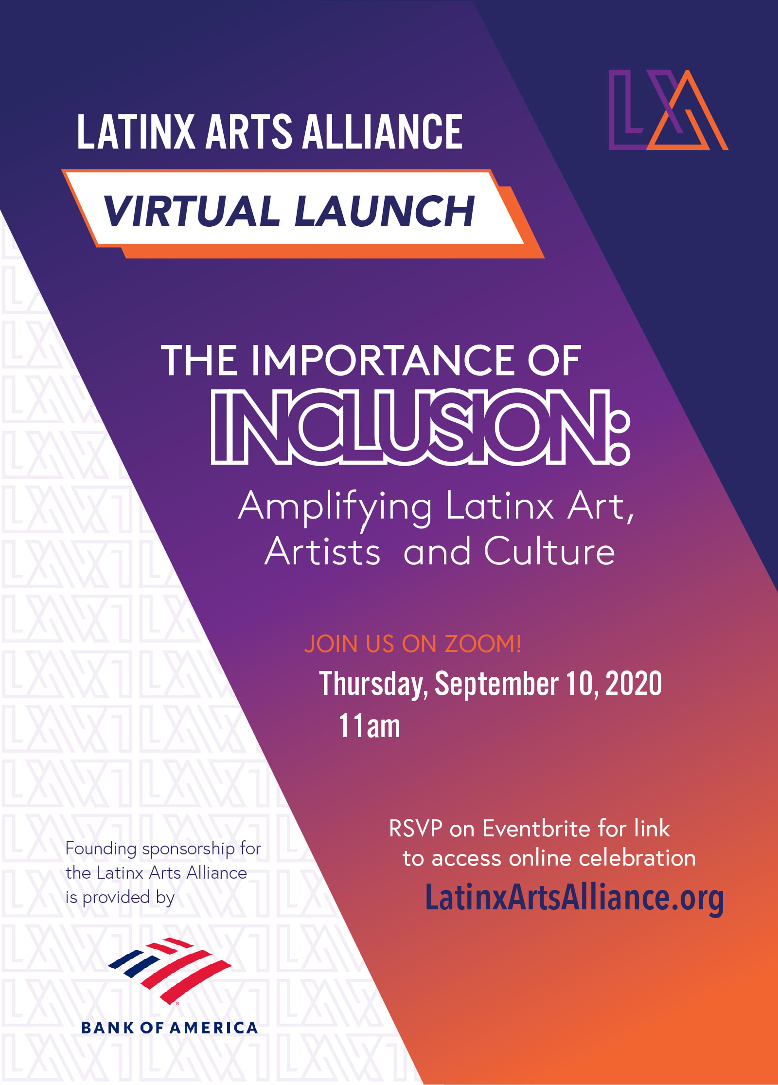 Latinx Arts Alliance Evite