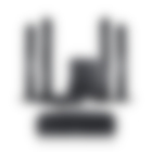 Heimkino Säulenlautsprecher LT 4 Complete Komplettanlage T 8 Schwarz von Teufel L