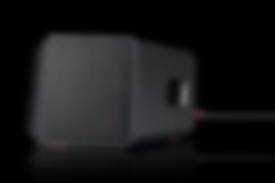 Soundbar Cinebar One Schwarz Seitenansicht HDMI