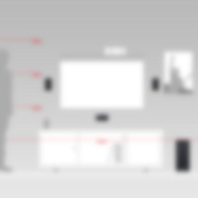Heimkino Micro-Lautsprecher Aluminium Cubycon Größenvergleich