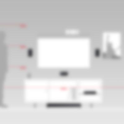 Heimkino Micro-Lautsprecher Aluminium Cubycon Complete Komplettanlage