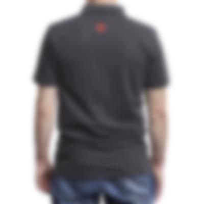 Herren Piqué-Polohemd - black - back - male