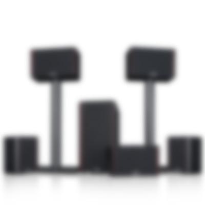 System 4 THX Compact - Set Cover Standfuß - black