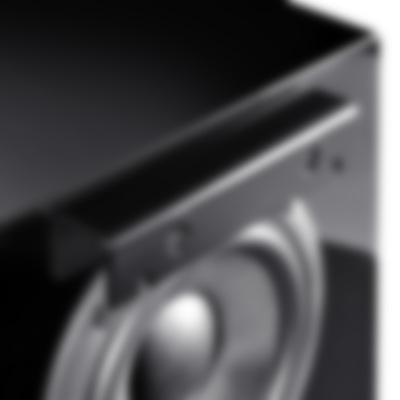 System 8 THX Cinema 5.1 - S 800 D hinten Wandhalterung Schwarz