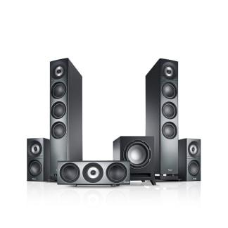 Hi-End-Lautsprecher Definion 3 Heimkino 5.1 Surround T 10 von Teufel Schwarz
