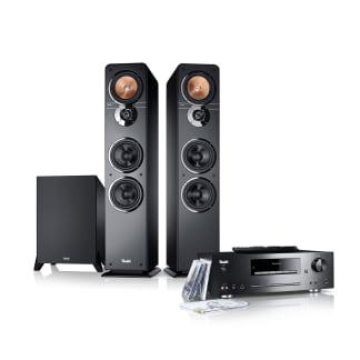 Stereo-Lautsprecher Ultima 40 Stereoanlage Kombo von Teufel Schwarz