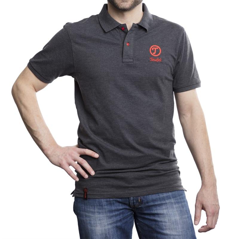 Herren Piqué-Polohemd - black - front - male