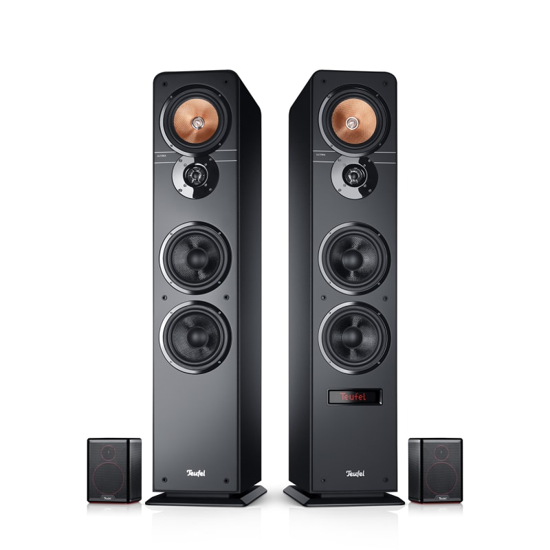 Stereo-Lautsprecher Ultima 40 Aktiv Heimkino 5.1 Surround Schwarz von Teufel
