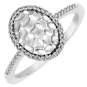.15ct TCW  White Diamonds 14K White Gold  Halo   Engagement Ring