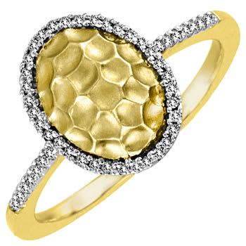 .15ct TCW  White Diamonds 14K Two Tone Gold  Halo   Engagement Ring