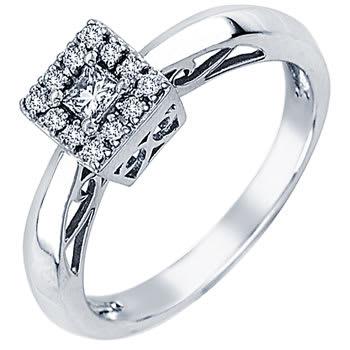.30ct TCW  White Diamonds 14K White Gold  Pave   Engagement Ring
