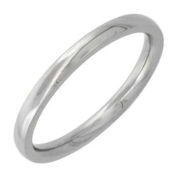 Stainless Steel Dome Plain Women's Comfort Fit Ring (2mm)