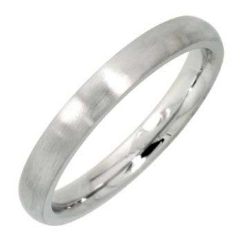 Stainless Steel Dome Plain Women's Comfort Fit Ring (3mm)