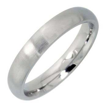Stainless Steel Dome Plain Women's Comfort Fit Ring (4mm)