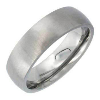 Stainless Steel Dome Plain Men's Comfort Fit Band (6mm)
