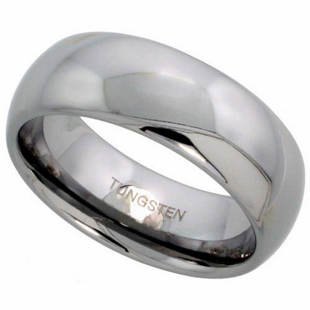 Tungsten Dome Plain Unisex Comfort Fit Band (8mm)