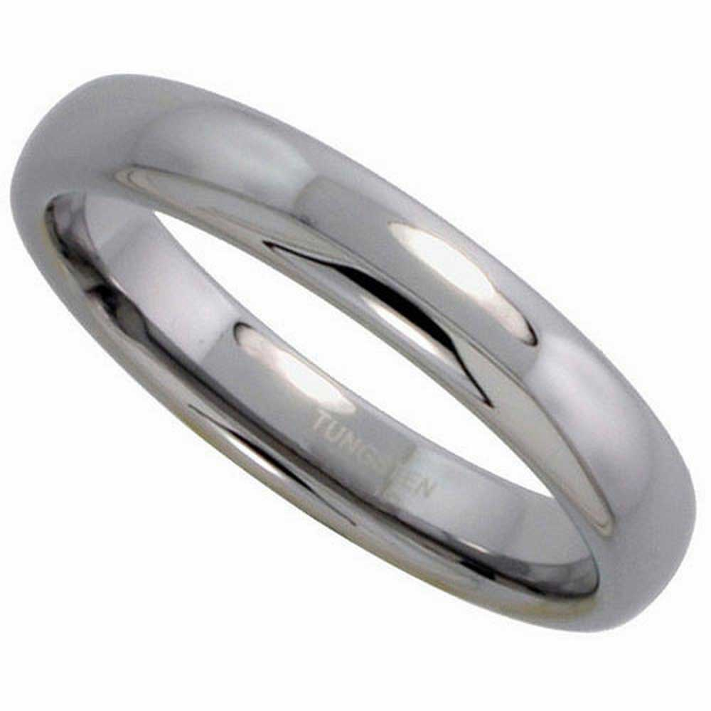 Tungsten Dome Plain Unisex Comfort Fit Band (4mm)