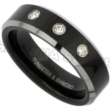 .11ct TCW  White Diamonds Tungsten  Diamond Unisex Comfort Fit Ring (6mm)
