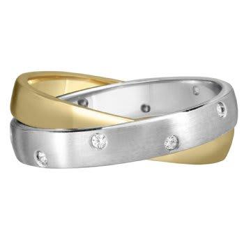 .10ct TCW  White Diamonds 14K White Gold Semi-Eternity Diamond Women's Comfort Fit Ring (3.5mm)