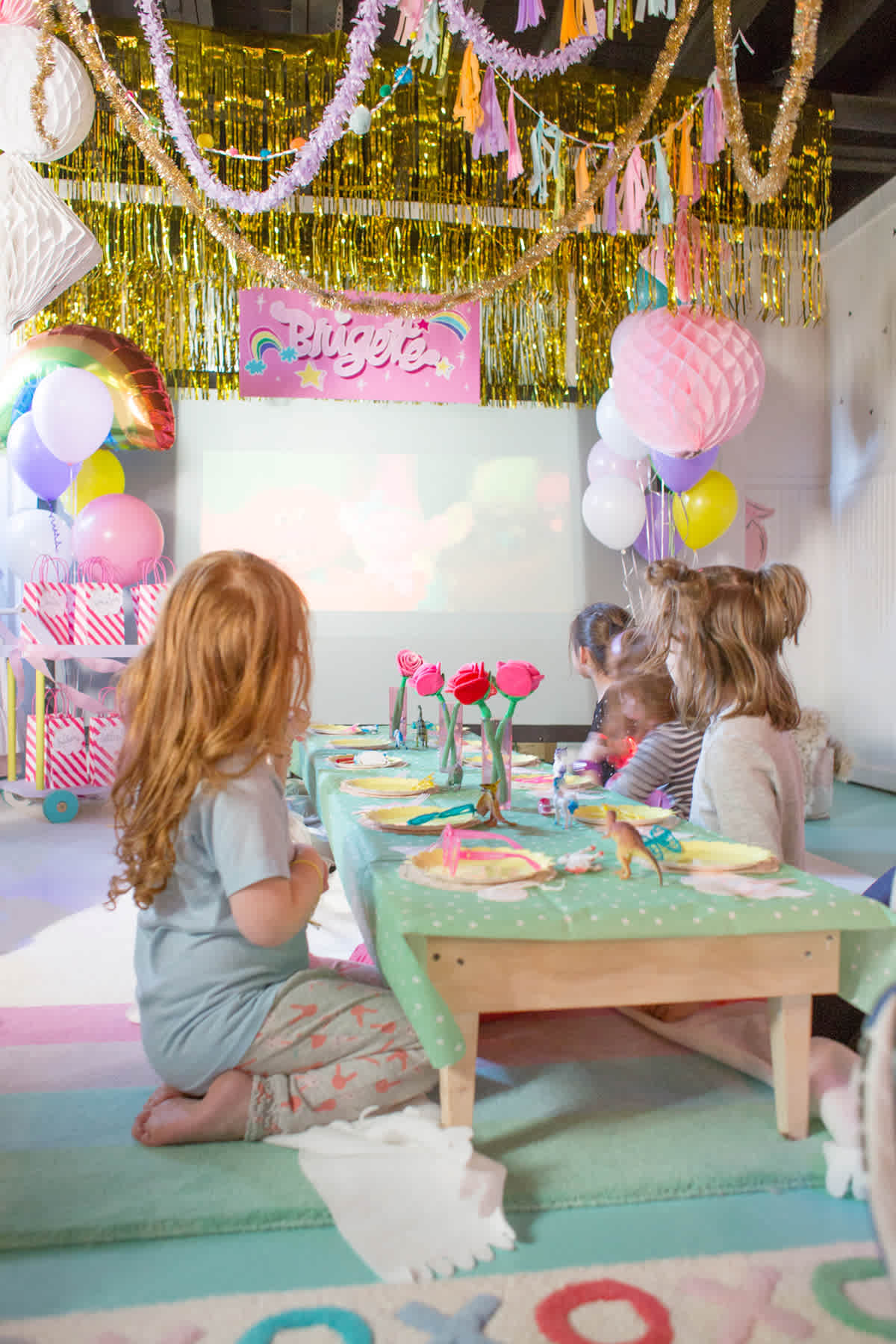 Simple Rainbow Birthday Party Ideas Lay Baby Lay