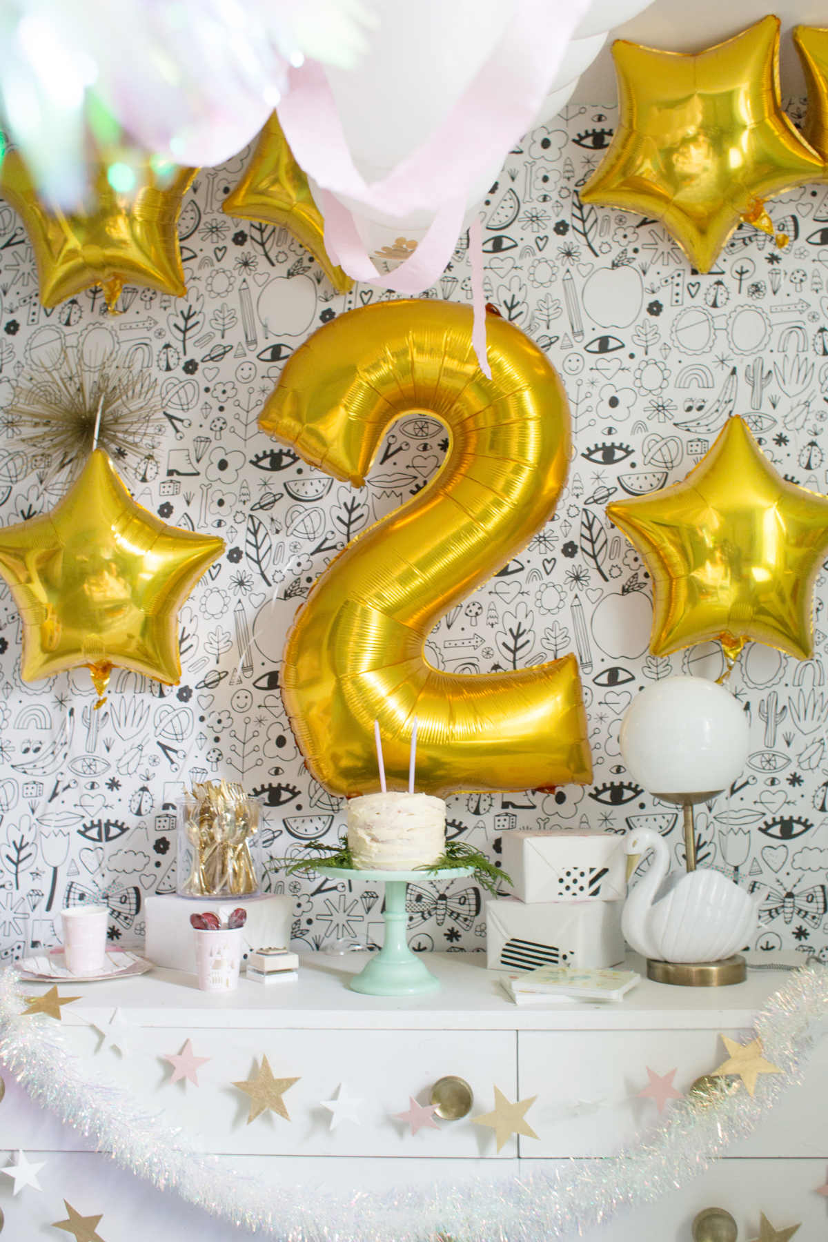 Easy Golden Birthday Party Ideas Lay Baby Lay