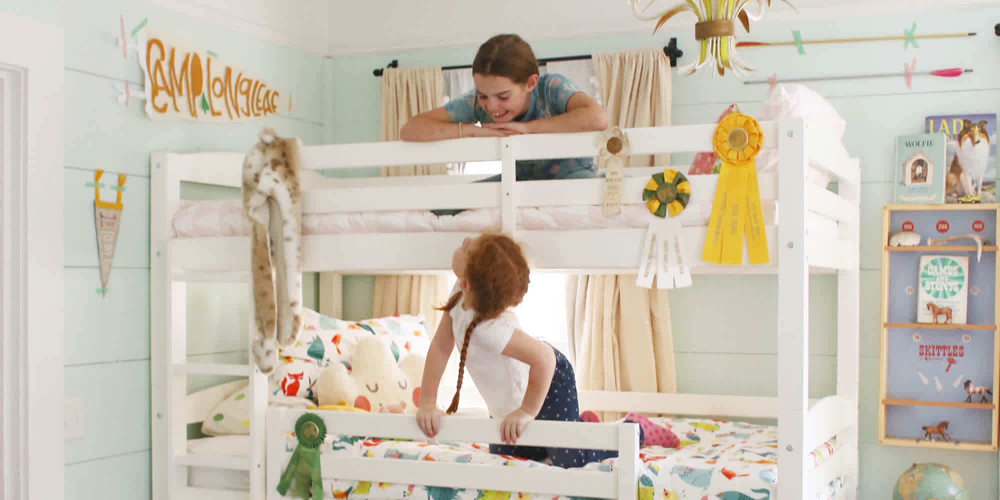 Cute Affordable Bunk Beds for a Shared Room