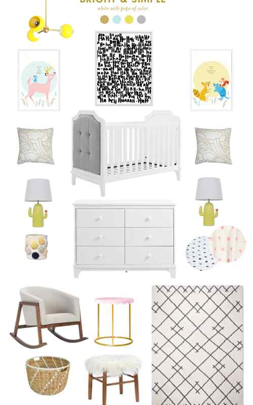 bright and simple nursery ideas