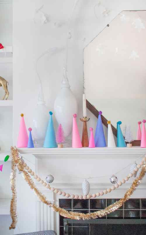 bright and easy christmas mantel decor