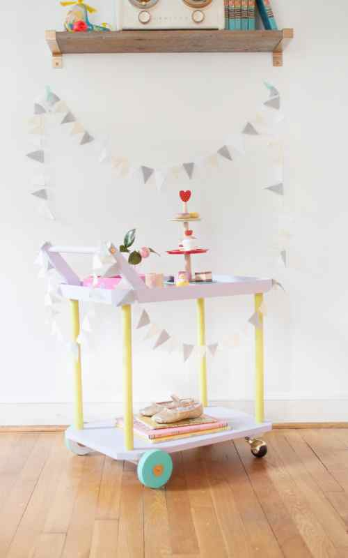 DIY tea cart