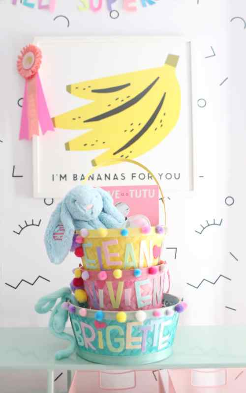DIY personalized Easter baskets