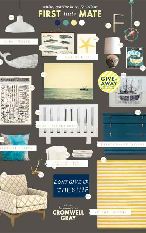 Hanks Nautical Nursery Lay Baby Lay