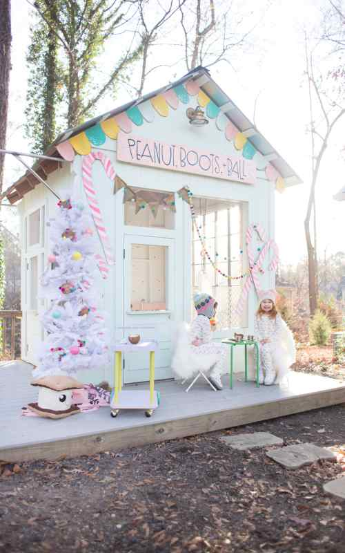 a gingerbread playhouse
