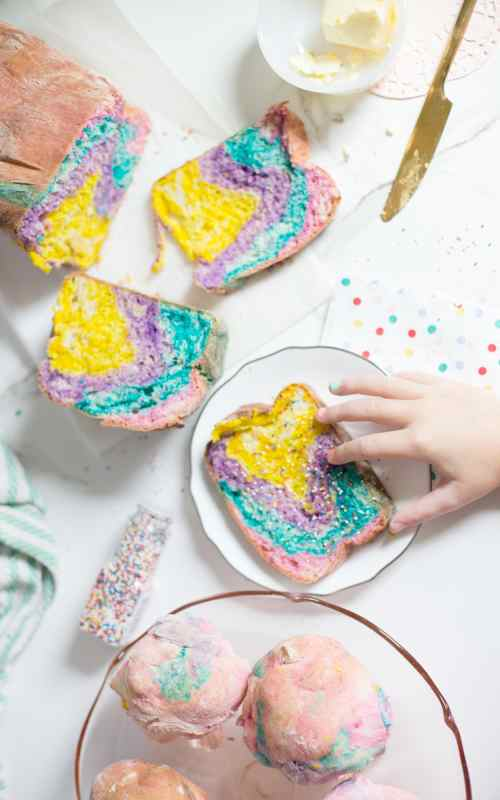 how to make rainbow bread and rainbow rolls