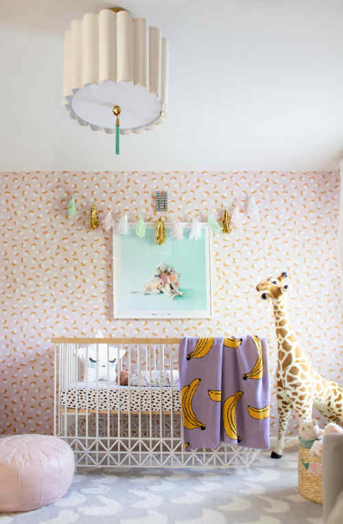 Modern and Sweet Baby Girl Room