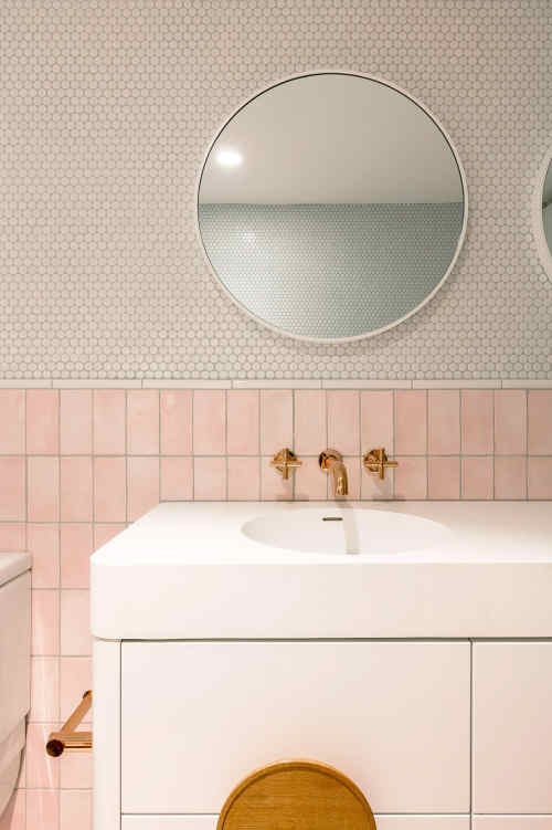 A Modern Pink Bathroom for Kids