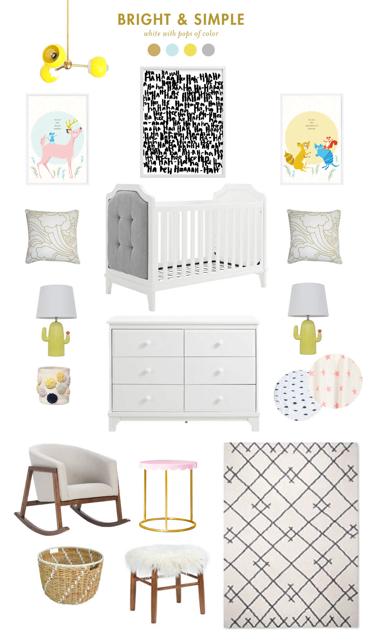 white and neutral baby room inspiration