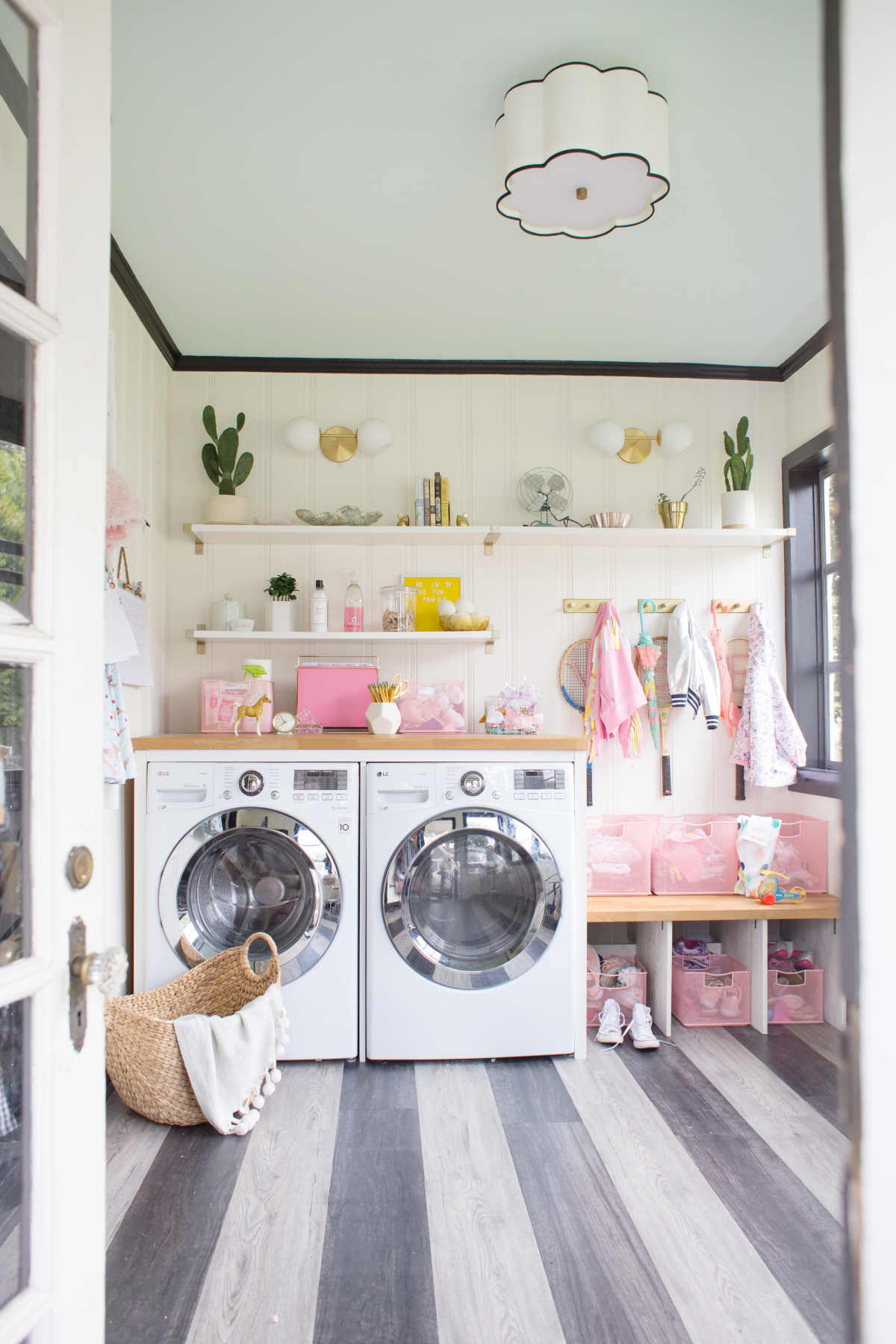 laundry and mudroom organization