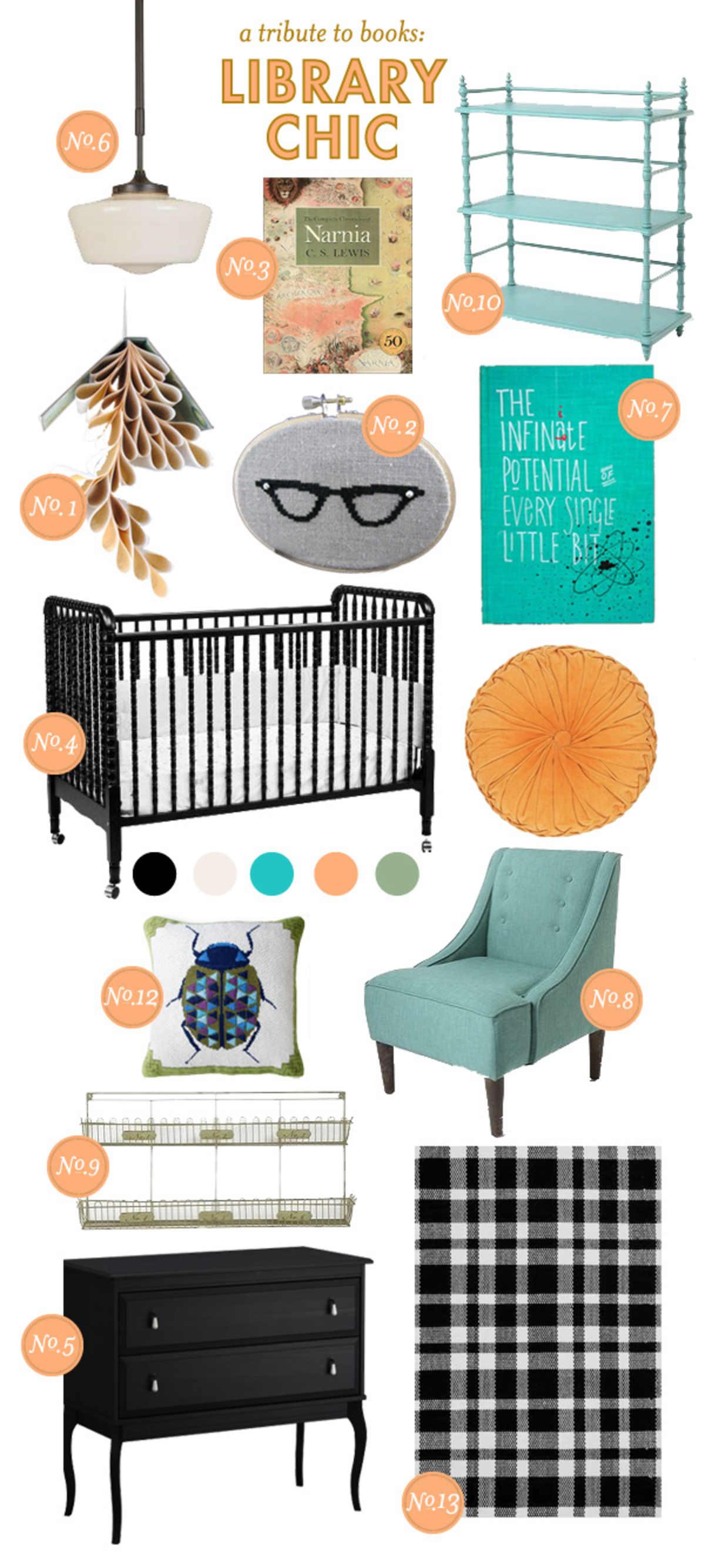 Baby Nursery Inspiration; Baby Nursery Style Board