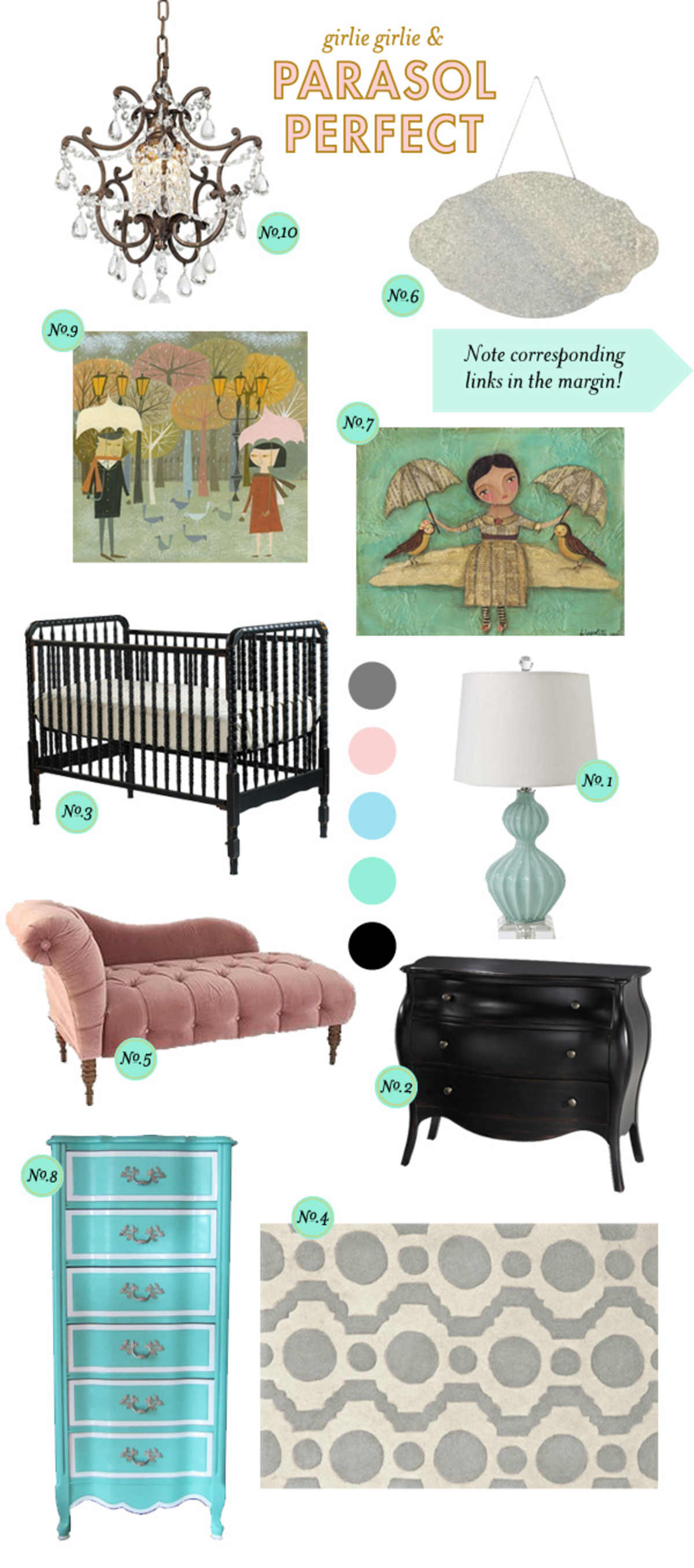 Baby Nursery Inspiration ; Baby Girl Nursery Inspiration ; Nursery Inspiration Board