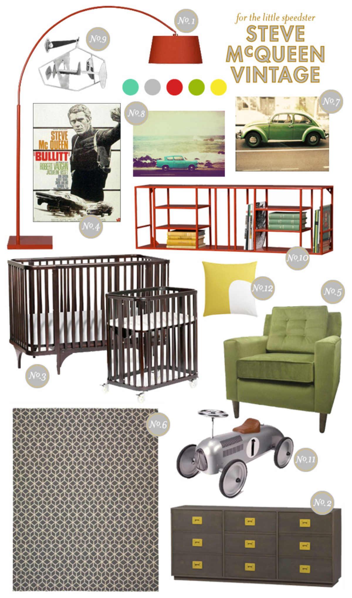 Boy Nursery Inspiration; Nursery Inspiration Board