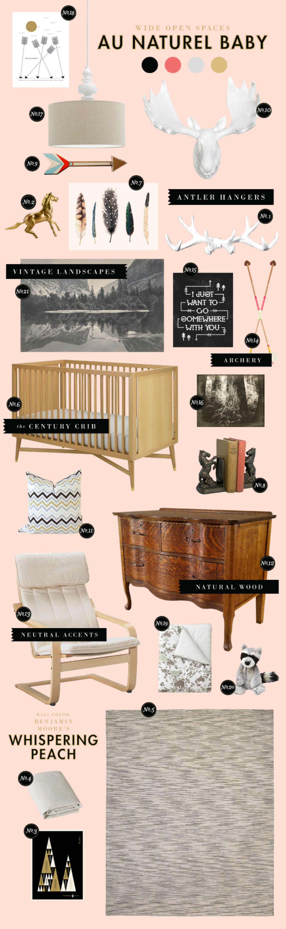 baby room ideas woodland natural