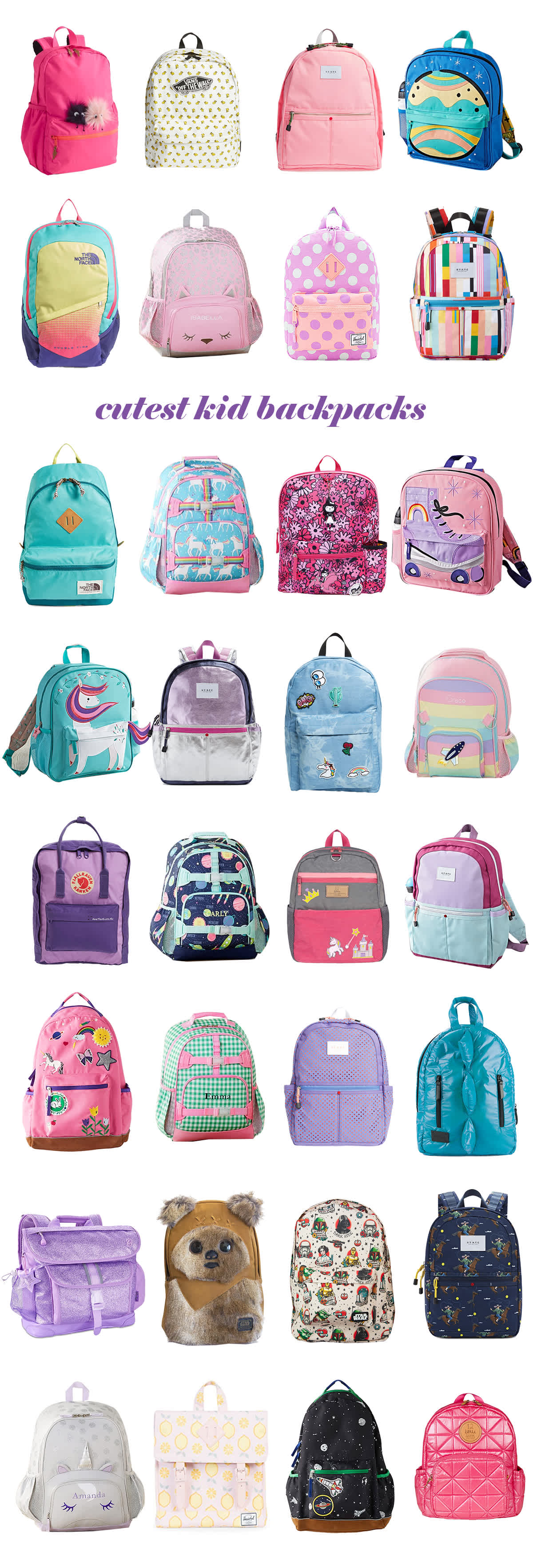 cutest kid backpacks for back to school