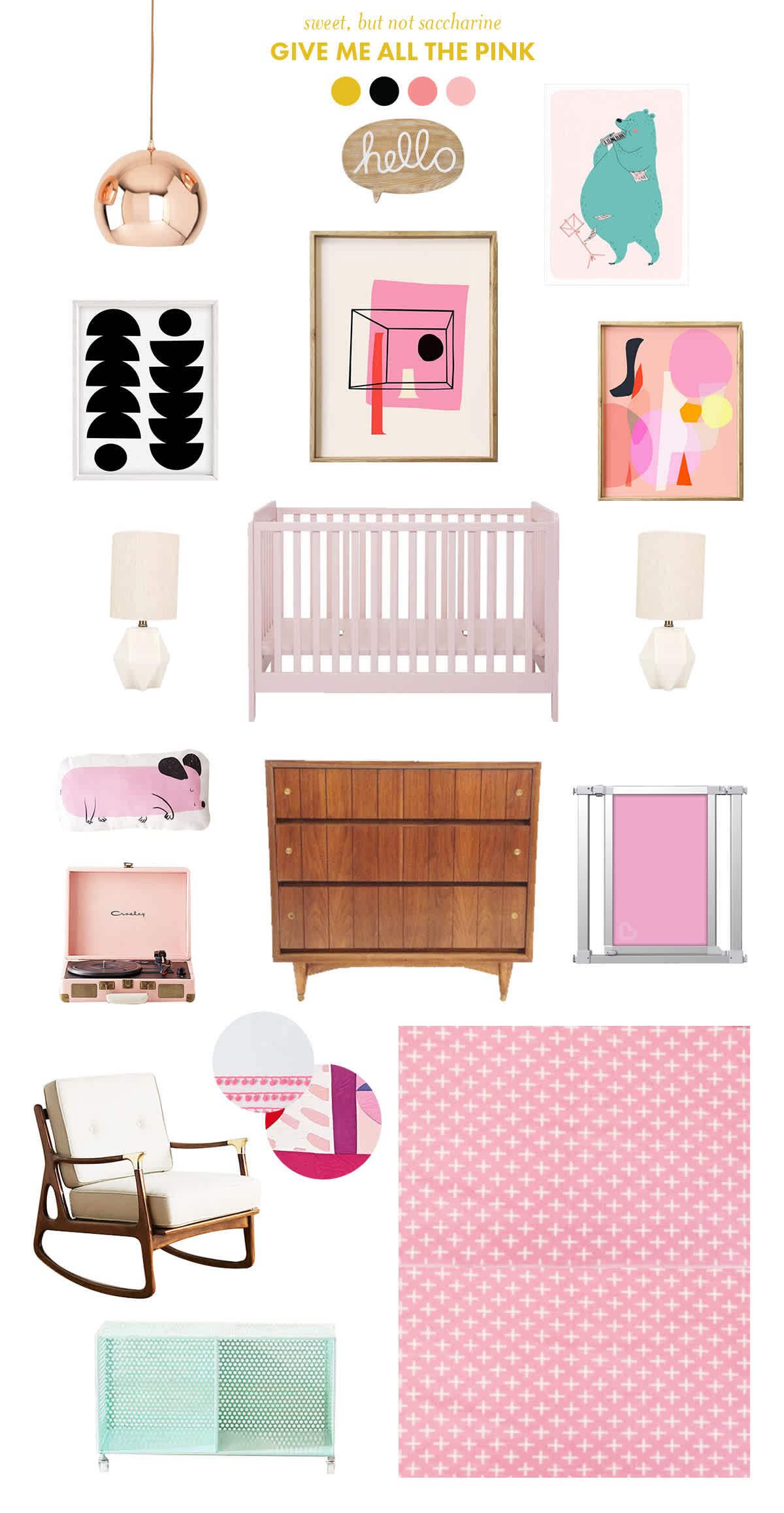 pink baby room inspiration
