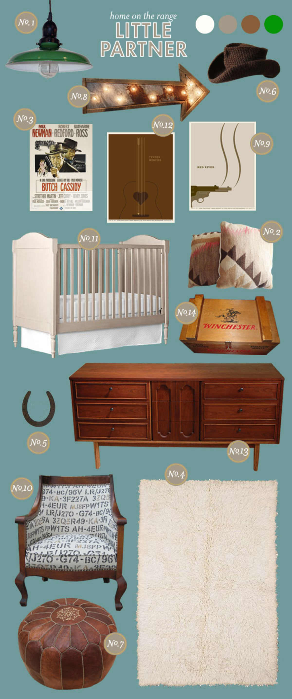 Cowboy Baby Nursery Inspiration Board
