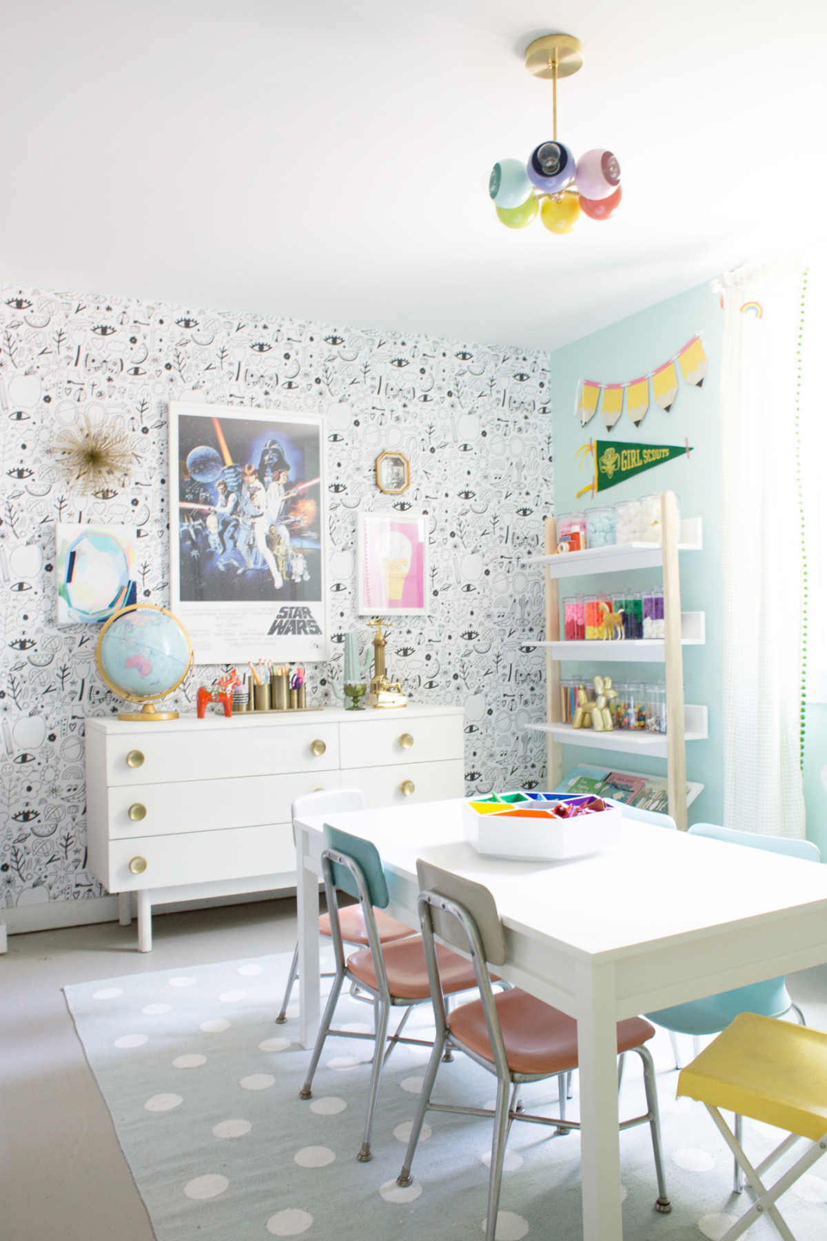 kid friendly craft space inspiration