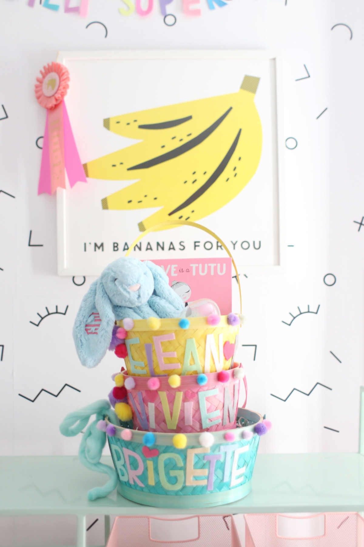inexpensive easy personalized easter baskets