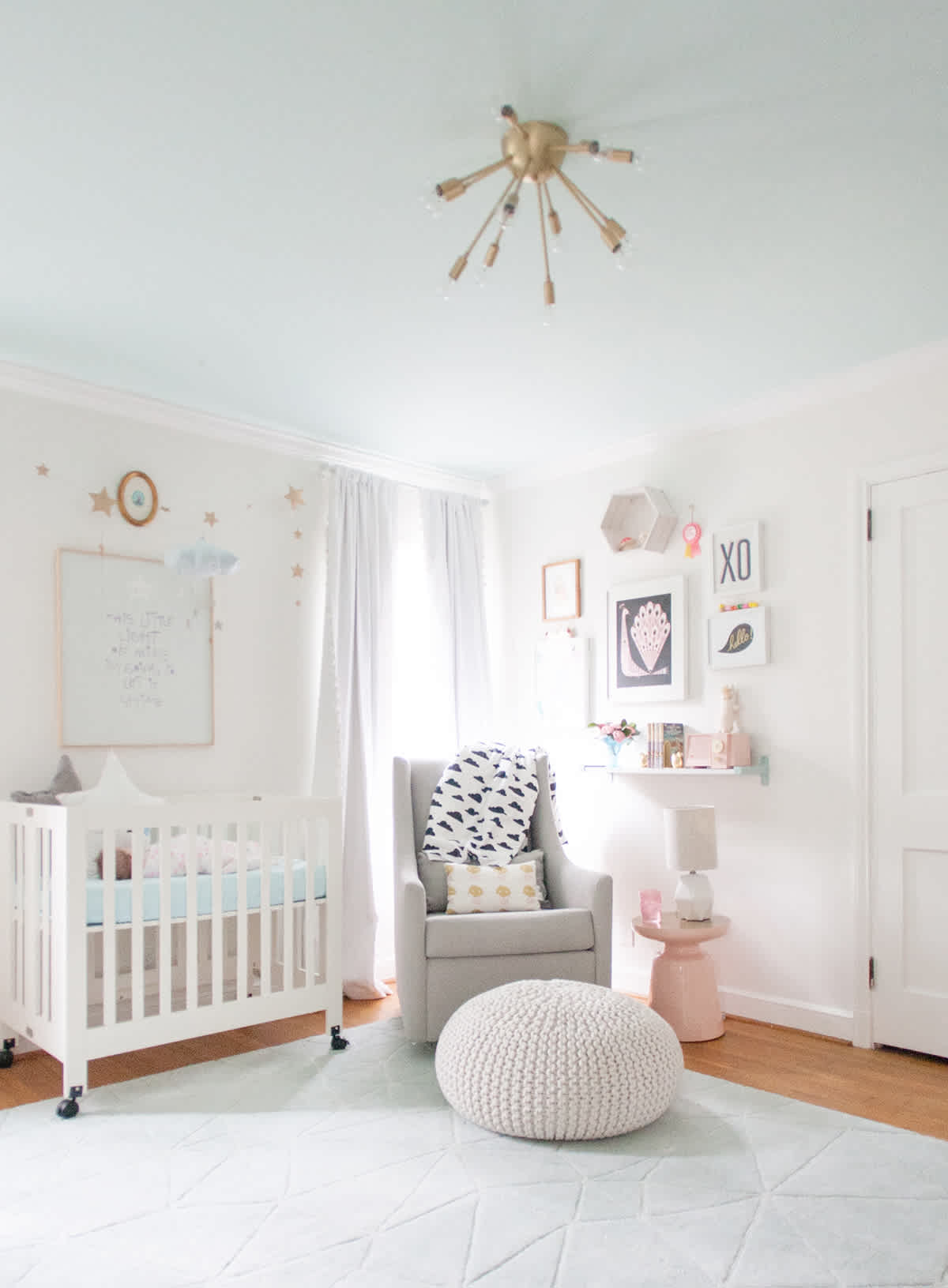 Lovely Bright Baby Room Ideas
