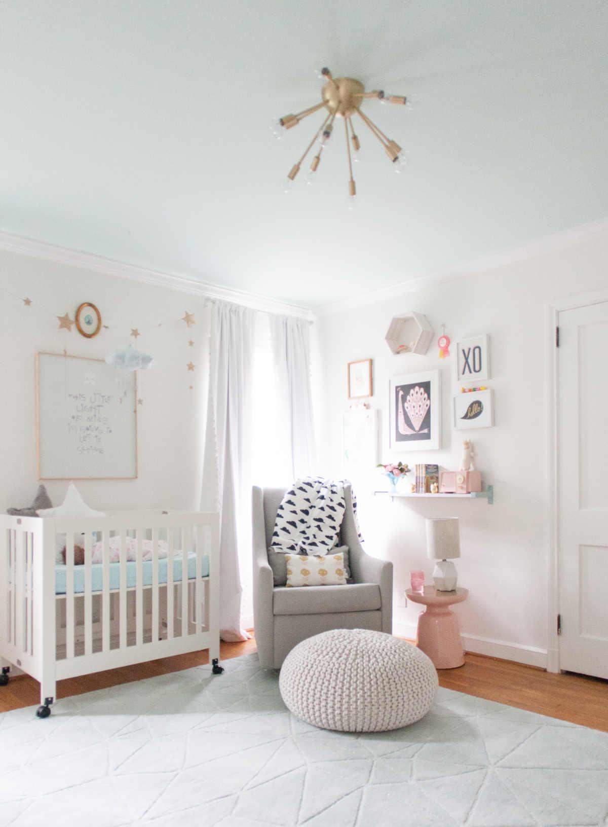 pretty modern baby nursery