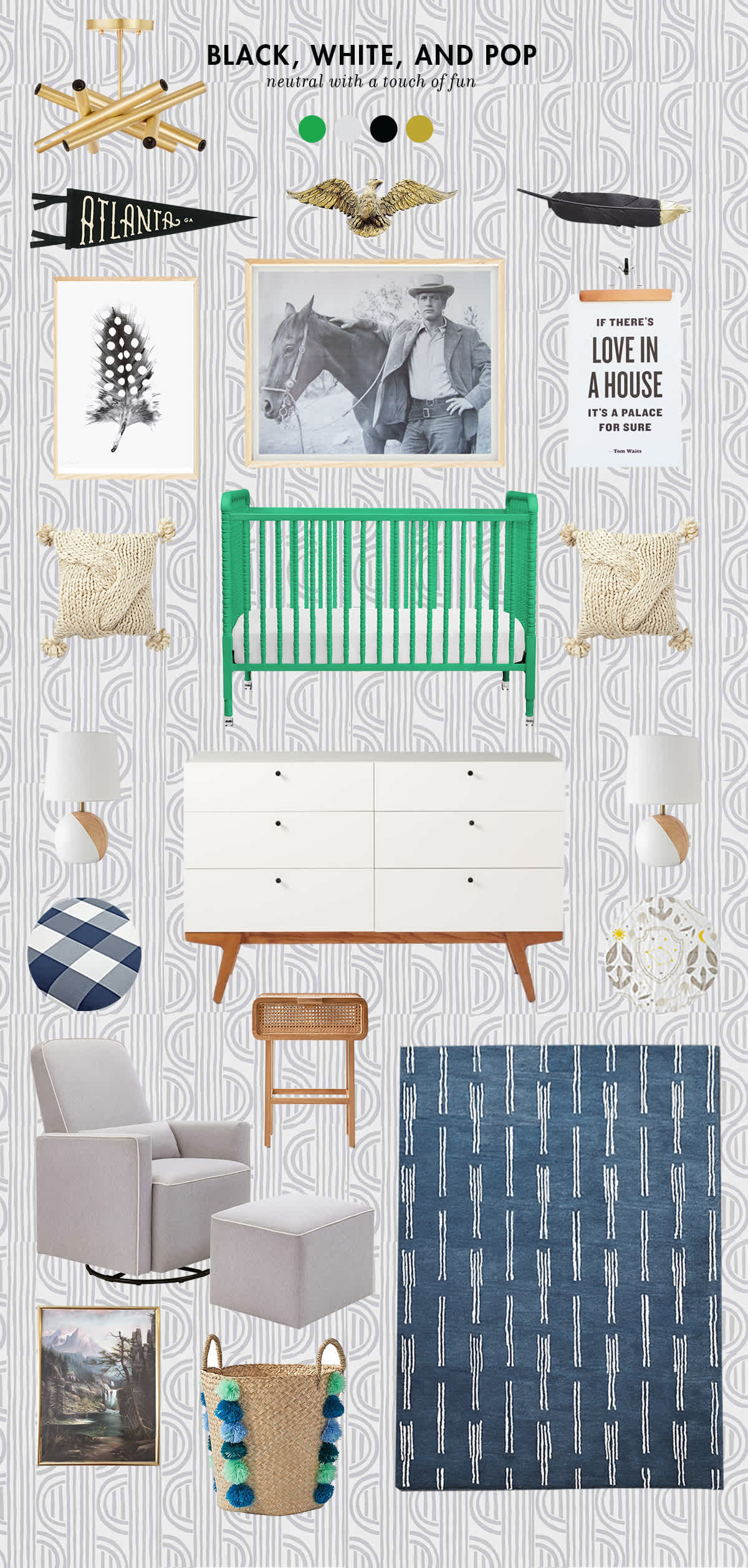 black and white baby boy room ideas