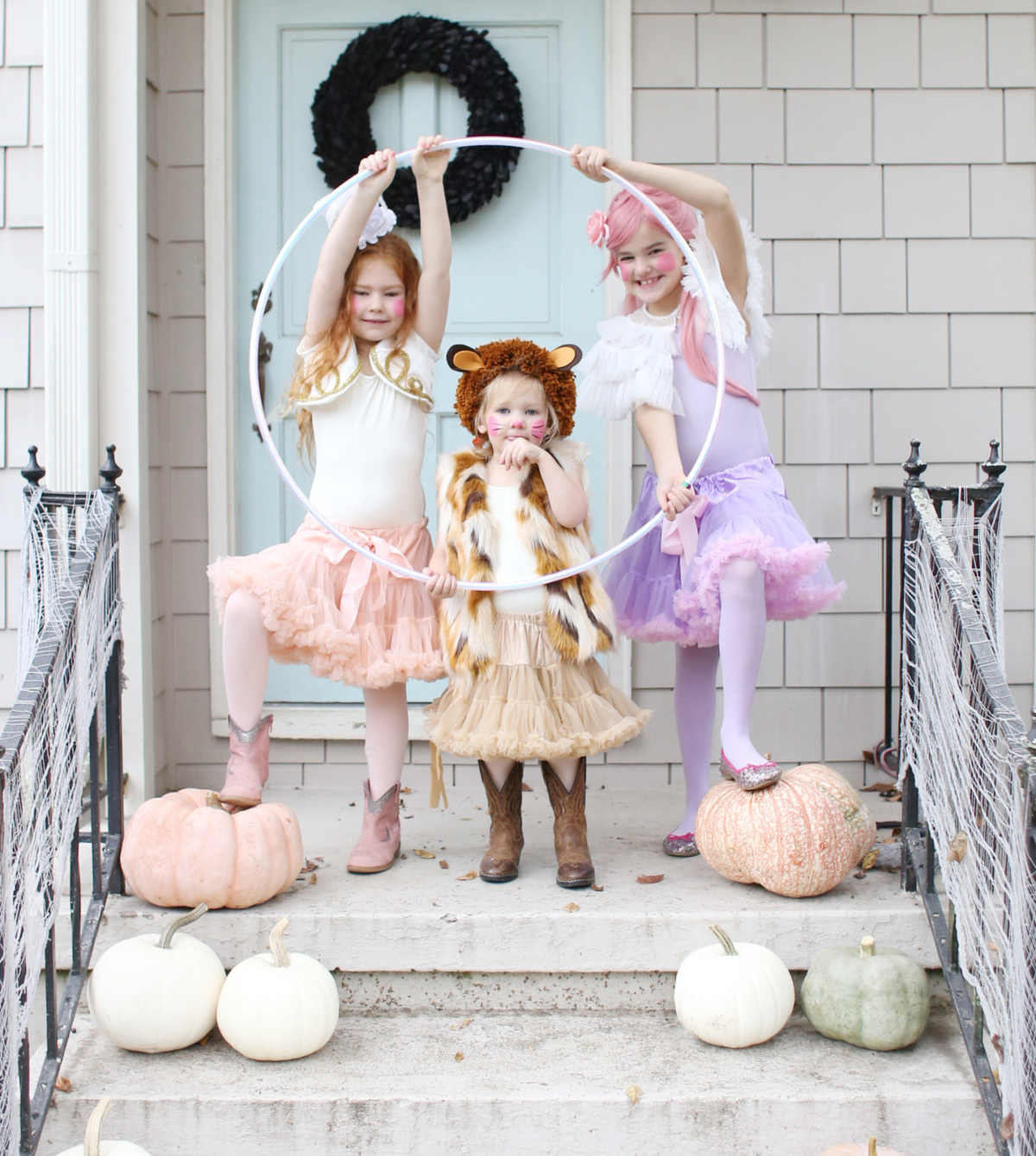 easy and cute circus costumes lion tamer, lion, and trapeze artist